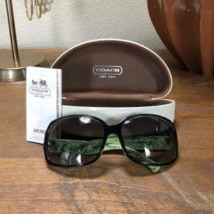 "Coach Black ""Ginger"" Sunglasses & Case"